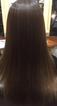 サラサラで艶髪の仕上がりに感動(After)