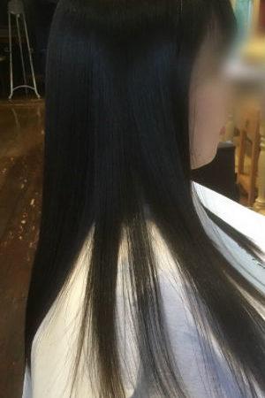 毛先のダメージを修復しながら縮毛矯正が可能。(After)