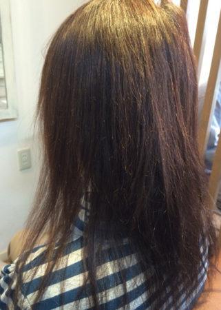 縮毛矯正で髪にツヤ(Before)