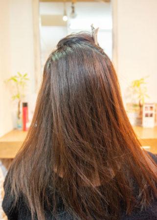 髪の広がりとまとまらない髪がキレイに(Before)
