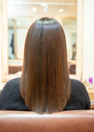 髪の広がりとまとまらない髪がキレイに(After)
