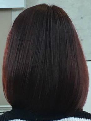 縮毛矯正で潤いのあるツヤ髪に(After)