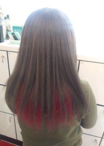 生酵素&3Dヒアルロン酸 縮毛矯正 毛先からカラー