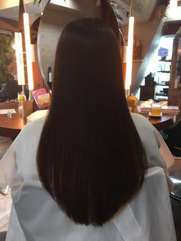 傷んだ髪がこんなにキレイになるとは思わなかった。(After)
