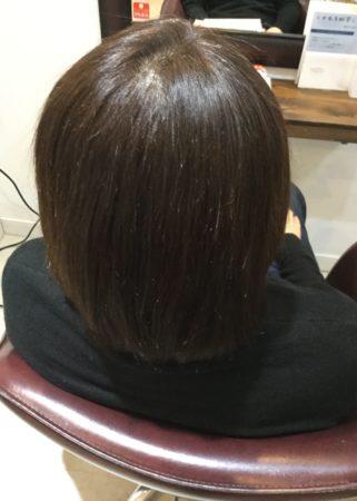 傷んだ、ハイトーンメッシュの入った髪てでもキレイに(After)
