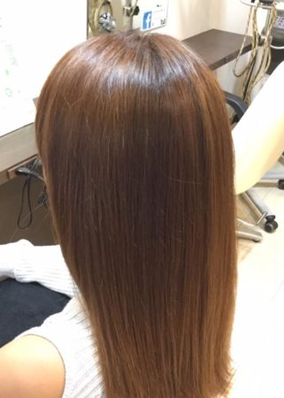 髪がこんなにツヤサラになるなんて(After)