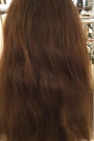 髪がツヤツヤで光の輪が、CM見たい。(Before)
