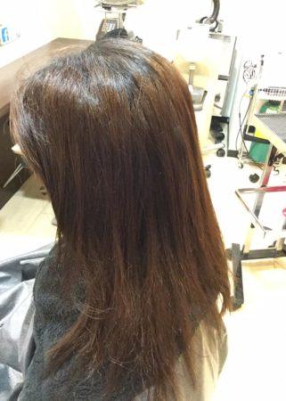 ツヤのあるキレイな髪に(Before)