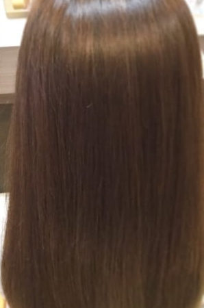 髪がツヤツヤで光の輪が、CM見たい。(After)