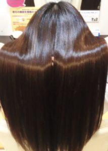 縮毛矯正+毛髪改善+プラチナアミノイオントリートメント+ヘアオペ