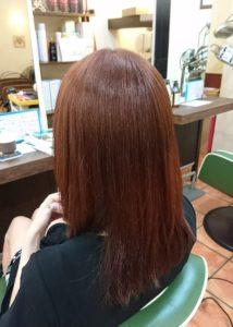 縮毛矯正MAS-4ストレート+カラー