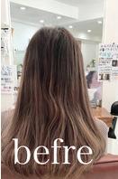美髪矯正シルクレッチ®︎+カラー(髪質改善)(Before)