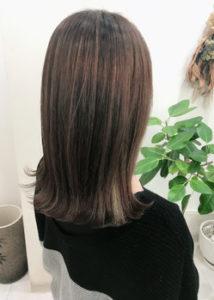 縮毛矯正+インナーカラー